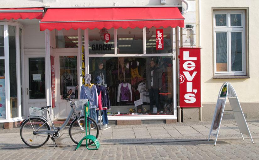 Diesen wirklich coolen Jeans Shop in Waren (Müritz) gefunden
